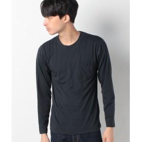スペンディーズストア 丸首長袖何枚あっても便利!ポケットTシャツ メンズ ネイビー M 【SPENDY'S Store】