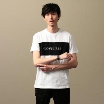 【ラブレス(LOVELESS)】 【LOVELESS】MEN スタッズロゴTシャツ オフホワイト
