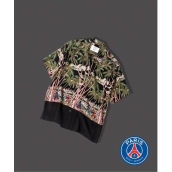 EDIFICE Paris Saint-Germain / パリサンジェルマン パーム アロハシャツ ブラック M