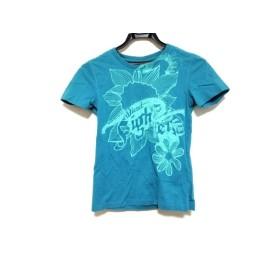 【中古】 ディーゼル DIESEL 半袖Tシャツ サイズM レディース ブルー ライトグリーン