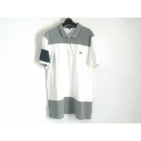 【中古】 フレッドペリー FRED PERRY 半袖ポロシャツ サイズXL メンズ 白 ライトグレー ネイビー