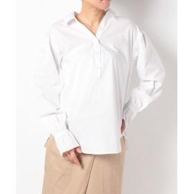 【49%OFF】 イセタン アームインアーム 背抜きシャツ レディース ホワイト M 【arm in arm】 【セール開催中】