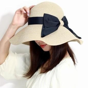 ストローハット レディース 日焼け対策 つば広 UV 折りたたみ可能 洗える 持ち運び ツバ広帽子