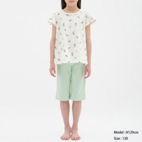 (GU)GIRLSラウンジセット(半袖)Peanuts1 OFF WHITE 110