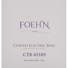 FOEHN CTB-45105 Coated Electric Bass Strings Regular Light Top Medium Bottomコーティングエレキベース弦45-105