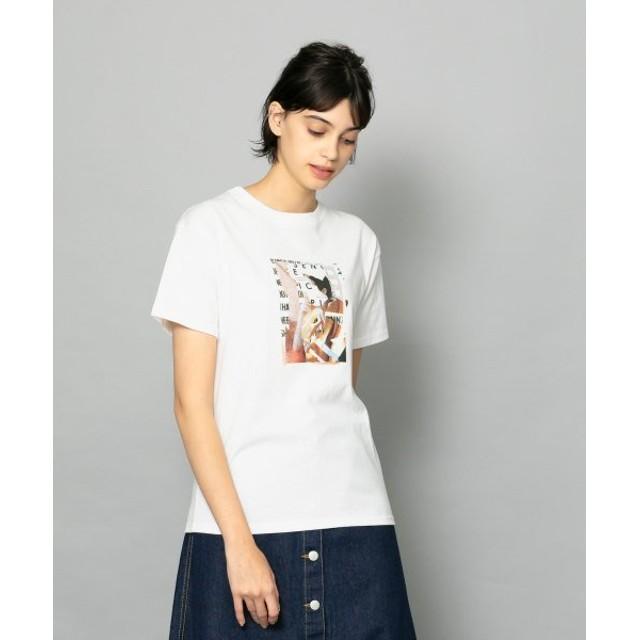 【34%OFF】 センスオブプレイス コラージュプリントTシャツ A(半袖) レディース OFFWHITE FREE 【SENSE OF PLACE】 【セール開催中】