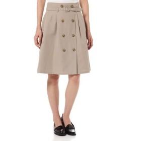 NATURAL BEAUTY BASIC / ナチュラルビューティーベーシック ベルト付膝丈スカート