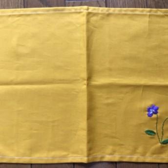 【再販*受注製作】刺繍のランチョンマット☆スミレ
