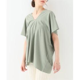 EMILY WEEK Cotton/Bamboo Vネックプルオーバー グリーン A フリー