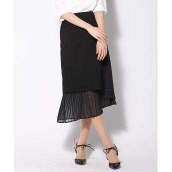 VICKY ビッキー リネンライク異素材スカート