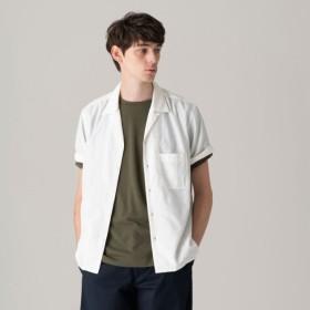 SALE【マッキントッシュ フィロソフィー メン(MACKINTOSH PHILOSOPHY MEN)】 【WEB限定】ストレッチツイル オープンカラーシャツ ホワイト