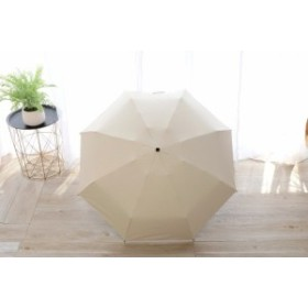 【お取り寄せ】折り畳み傘 無地 カラー 単色 持ち手ダイヤモンドカット シンプル 晴雨兼用 (ホワイト)