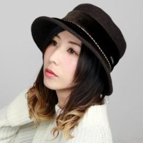 秋冬 ハット DAKS 婦人 クロッシェ UVカット レディース ダックス 帽子 クロシェハット 日本製 ベ