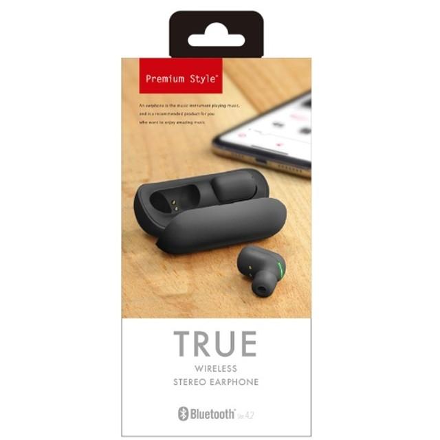 フルワイヤレスイヤホン Premium Style ブラック PG-BTE7S01BK [ワイヤレス(左右分離) /Bluetooth]