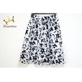 マイストラーダ Mystrada スカート サイズ38 M レディース 美品 白×黒 花柄       スペシャル特価 20190908