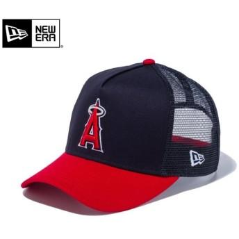 【メーカー取次】 NEW ERA ニューエラ 9FORTY D-Frame Trucker ロサンゼルス・エンゼルス ネイビーXスカーレット 12018961 キャップ メンズ 帽子 ブランド【Sx】