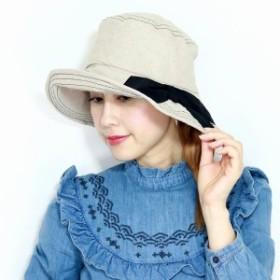 春夏 帽子 barairo no boushi 日本製 バラ色の帽子 ナチュラル素材 紫外線対策 レディース UV加工 ウ
