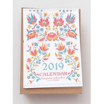 【欧州航路】2019年卓上カレンダー ハンガリー刺繍モチーフ マルチ