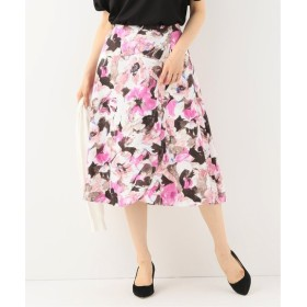 La Totalite フラワーペタルフレアスカート◆ ピンク A 36