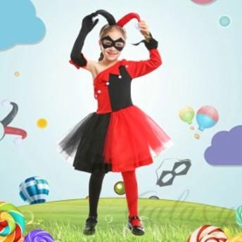 ハロウィン サーカス ピエロ トランプガール 不思議の国のアリス 子供キッズ XS-L コスプレ衣装 ps3643