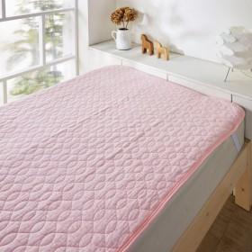 布団カバー シーツ 敷きパッド パッドシーツ くったりやわらかな綿100%ガーゼのウォッシュ敷きパッド カラー 「ピンク」