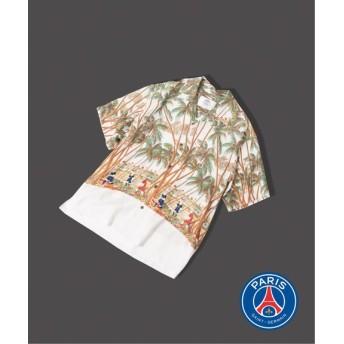 EDIFICE Paris Saint-Germain / パリサンジェルマン パーム アロハシャツ ホワイト L