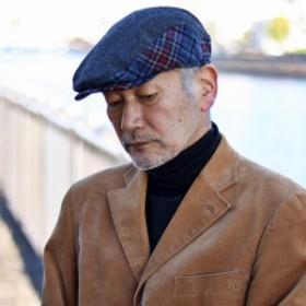 秋 冬 チェック ハンチング メンズ ウール素材 帽子 インポート メリノウール の中でもよりソ