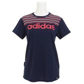 アディダス(adidas) TEAM ボーダー半袖Tシャツ NCM29-BQ6753 (Lady's)