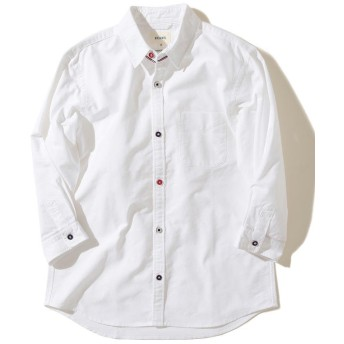 【40%OFF】 ビームス メン BEAMS / 7分袖 オックスフォード トリコロールパイピング シャツ メンズ WHITE M 【BEAMS MEN】 【セール開催中】