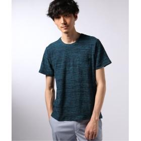 【60%OFF】 エディフィス ランダムパイル クルーネック TEE メンズ ブルーA S 【EDIFICE】 【セール開催中】