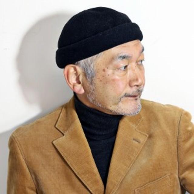 秋 冬 メンズ 帽子 ウール ロールキャップ KASZKIET サイズ調整可 56cm 57cm 58cm のサイズの方にピッ