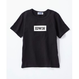 EDWIN ボックスロゴTシャツ キッズ ブラック