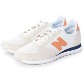 ニューバランス new balance WL220AB (ホワイト×オレンジ)