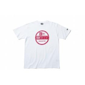 ニューエラ(NEW ERA) コットン Tシャツ バイザーステッカー ホワイト × ピンク 11901373 メンズ