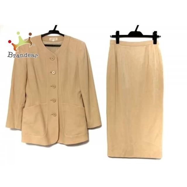 569e435c56 ヨシエイナバ YOSHIE INABA スカートスーツ サイズ9 M レディース ベージュ 肩パッド スペシャル特価 20190704