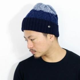 ニット帽 メンズ 秋冬 ローゲージニット マンシングウェア シェットランドウール Munsingwear 英