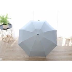【お取り寄せ】折り畳み傘 無地 カラー 単色 持ち手ダイヤモンドカット シンプル 晴雨兼用 (ライトブルー)