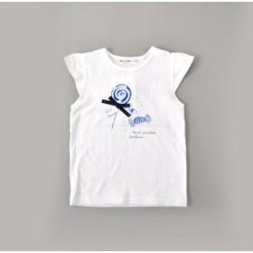 ノイユエームベベ(Noeil aim BeBe)/天竺ボンボンプリントTシャツ