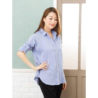 シャツ - Be mode you rari コットンWガーゼやわふわシャツ 綿100% 織香 羽織り 大人可愛い カジュアル きれいめ 大きいサイズ TV通販 テレビ通販 人気 20代 30代 40代 Yシャツ