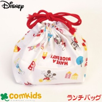DISNEY(ディズニー)ミッキー&フレンズ スタンダード ランチバッグ (子供用 お弁当袋 巾着袋 通園、通学に)