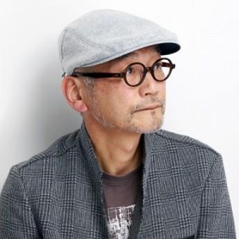 ハンチング メンズ 秋冬 シナコバ 帽子 メランジニット トリコロール イタリアライン 日本製 si