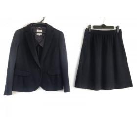 【中古】 クミキョク 組曲 KUMIKYOKU スカートスーツ サイズ2 M レディース ダークネイビー