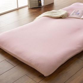 布団カバー シーツ 敷き布団カバー 和式用シーツ 吸水速乾綿混パイルの敷布団カバー カラー 「ピンク」