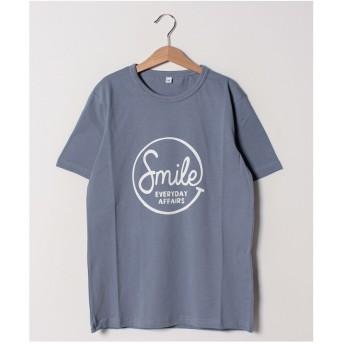 b-ROOM 【WEB限定】アソート柄半袖Tシャツ(モデレートブルー)【返品不可商品】