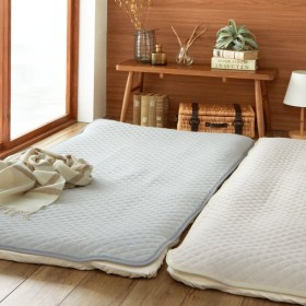 布団カバー シーツ 敷きパッド パッドシーツ 綿100%ソフトパイルの敷きパッド カラー 「グレー」