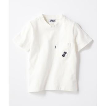 EDWIN ワンポイントTシャツ キッズ ホワイト