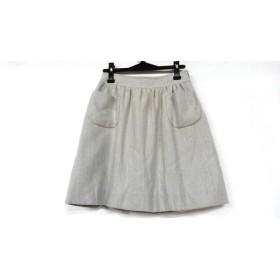 【中古】 ドレステリア DRESSTERIOR スカート サイズ38 M レディース ライトグレー アイボリー