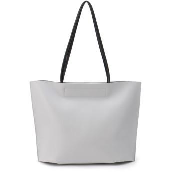LAUGOA [ラウゴア]Laugoa フェイクレザー トート バッグ / Pattern トートバッグ,ライトグレー