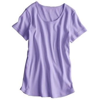 UVカット綿100%フライス素材クルーネック半袖Tシャツ