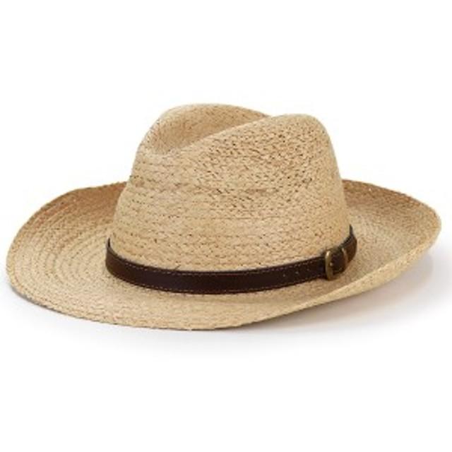 ストローハット イタリア製 メンズ 春夏 Di CHIARA ROSA 麦わら帽子 ラフィア ハット つば広 帽子
